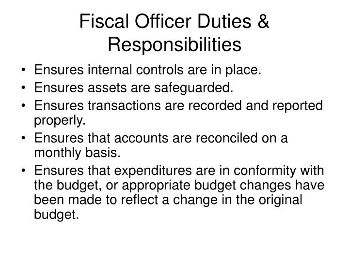 Fiscal officer duties responsibilities1
