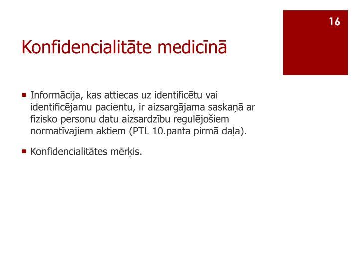 Konfidencialitāte medicīnā