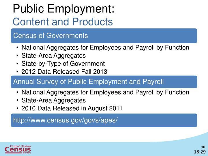 Public Employment: