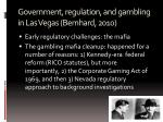 government regulation and gambling in las vegas bernhard 2010