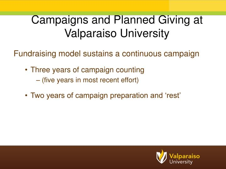 Fundraising model sustains a continuous campaign