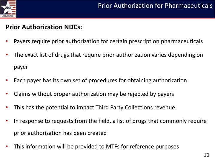 Prior Authorization for Pharmaceuticals