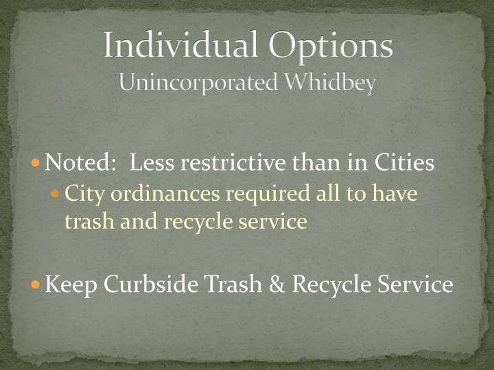 Individual Options