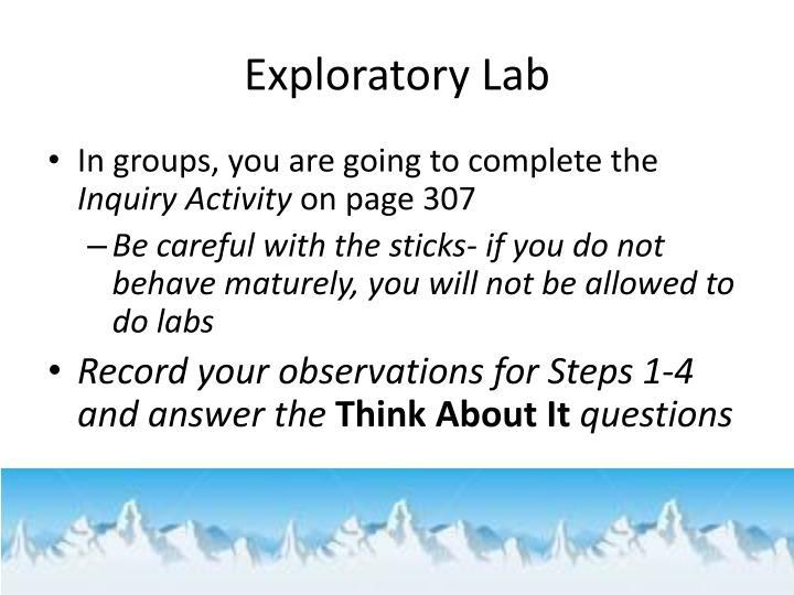 Exploratory Lab