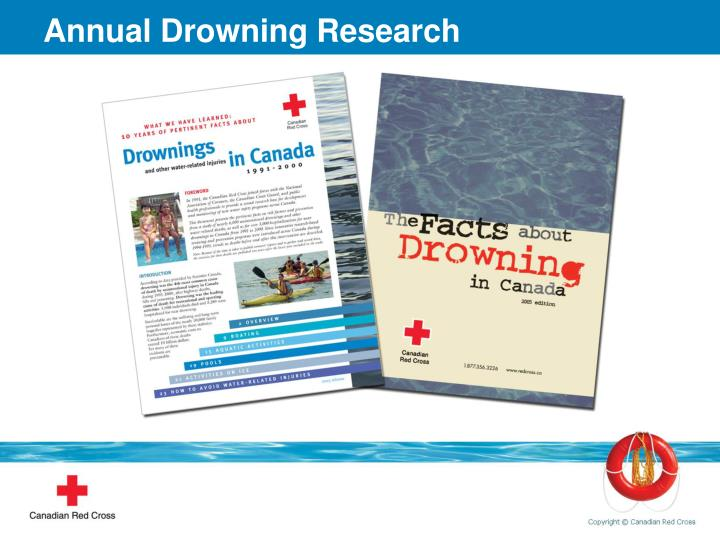 Annual Drowning Research