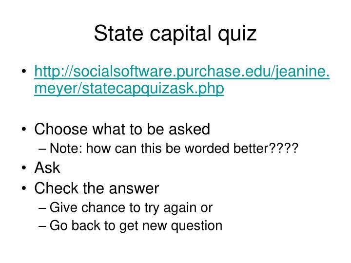 State capital quiz