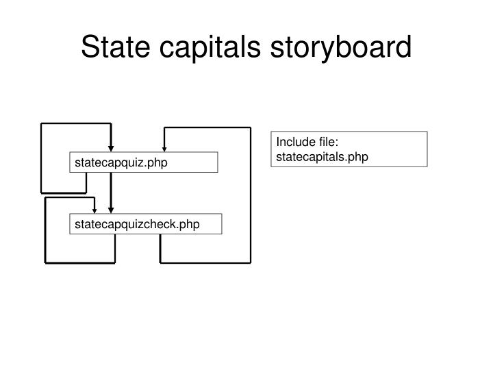 State capitals storyboard