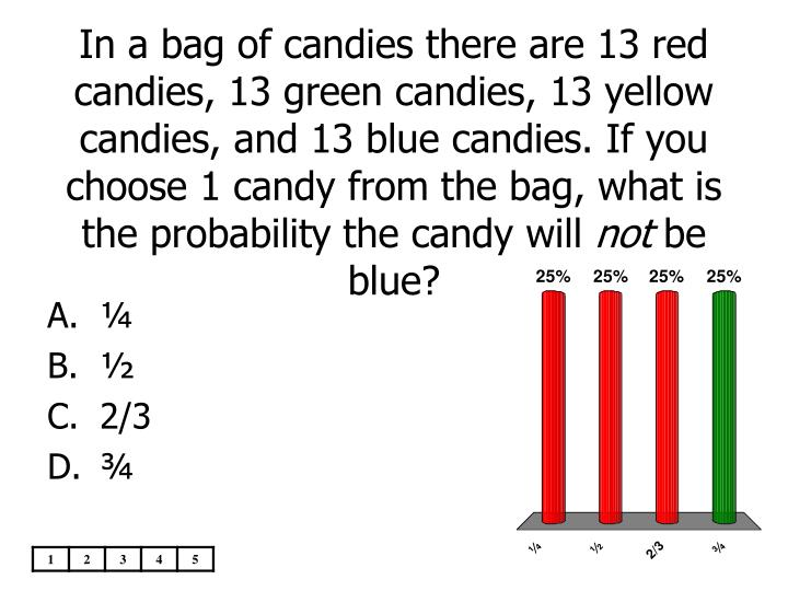 In a bag of candies there are 13 red