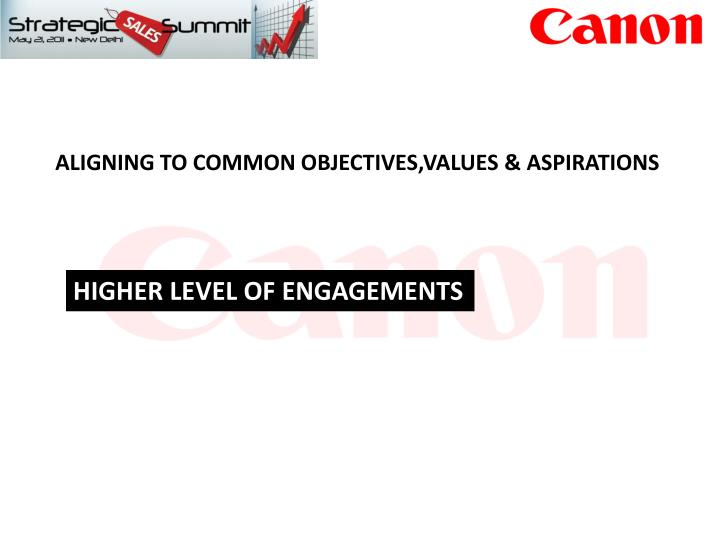 ALIGNING TO COMMON OBJECTIVES,VALUES & ASPIRATIONS