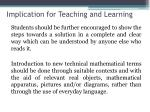 implication for teaching and learning3