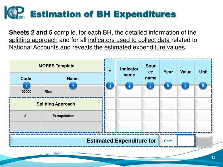 Estimation of BH Expenditures