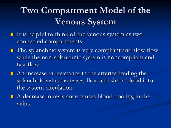 Two Compartment Model of the Venous System