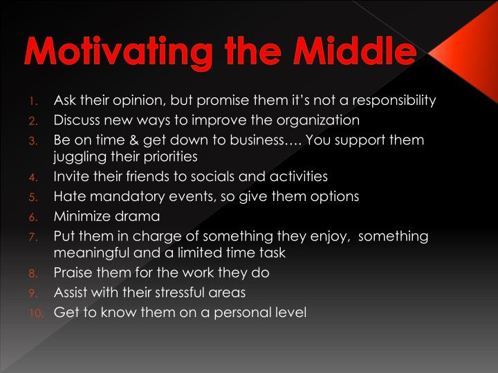 Motivating the Middle