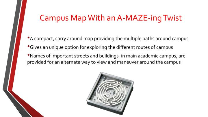 Campus map with an a maze ing twist