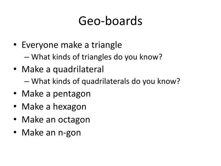 Geo-boards