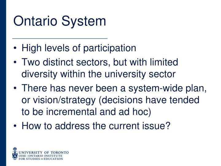 Ontario System