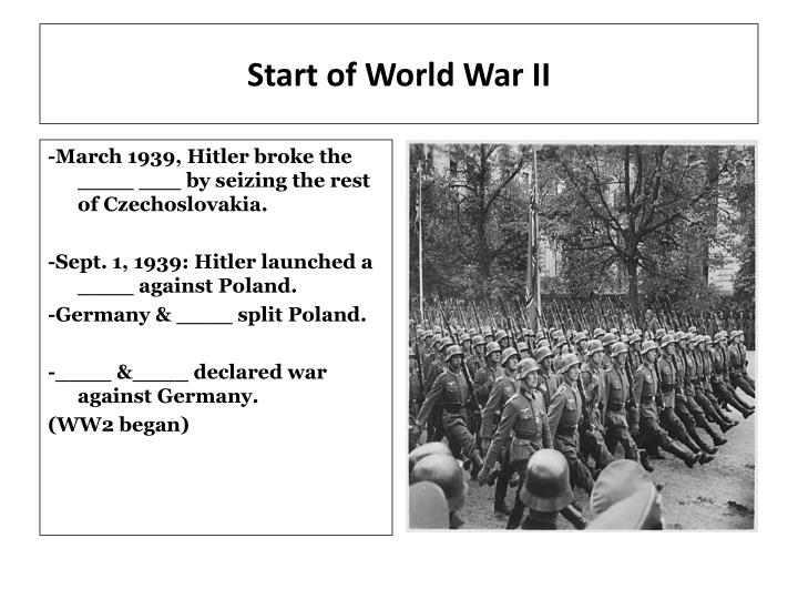 Start of world war ii