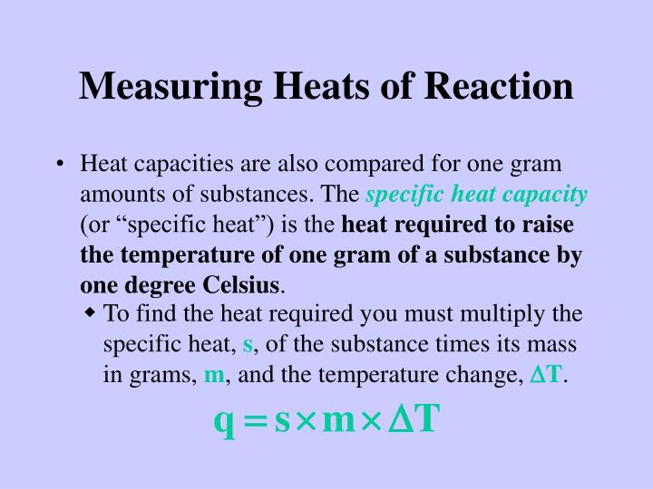 Measuring Heats of Reaction