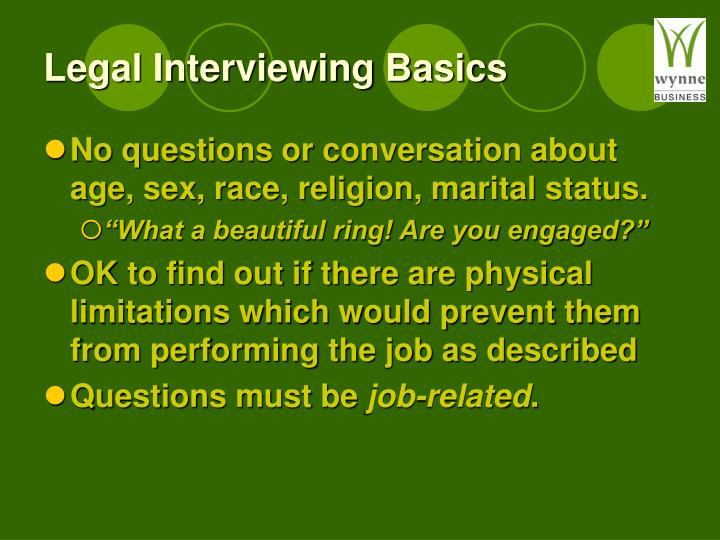 Legal Interviewing Basics
