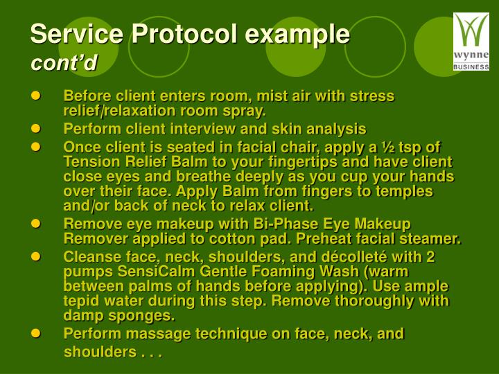 Service Protocol example