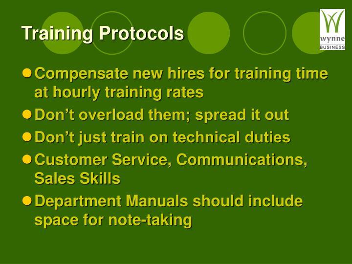Training Protocols