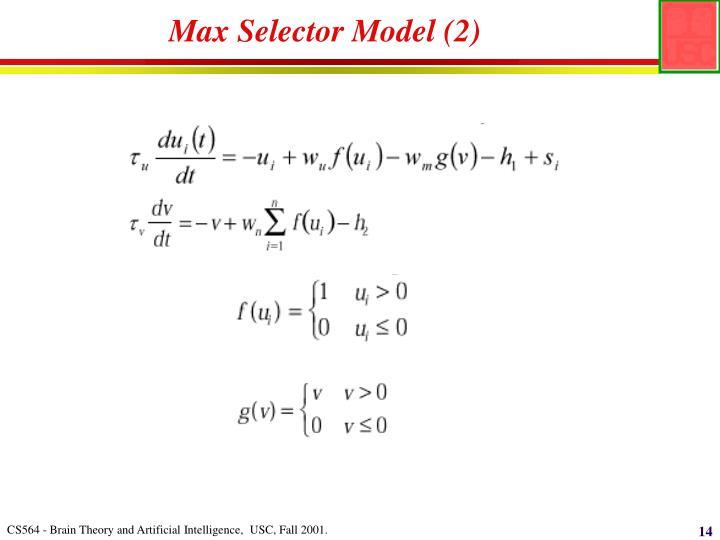 Max Selector Model (2)