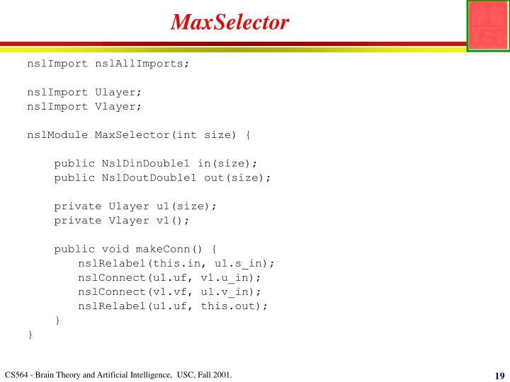MaxSelector