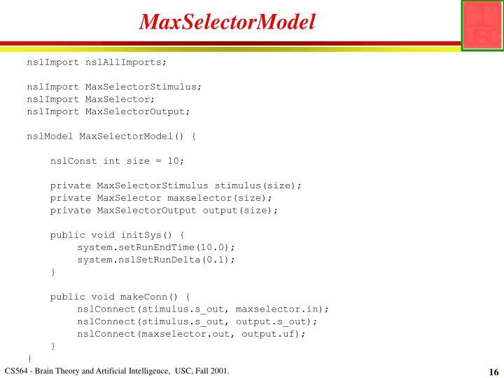 MaxSelectorModel
