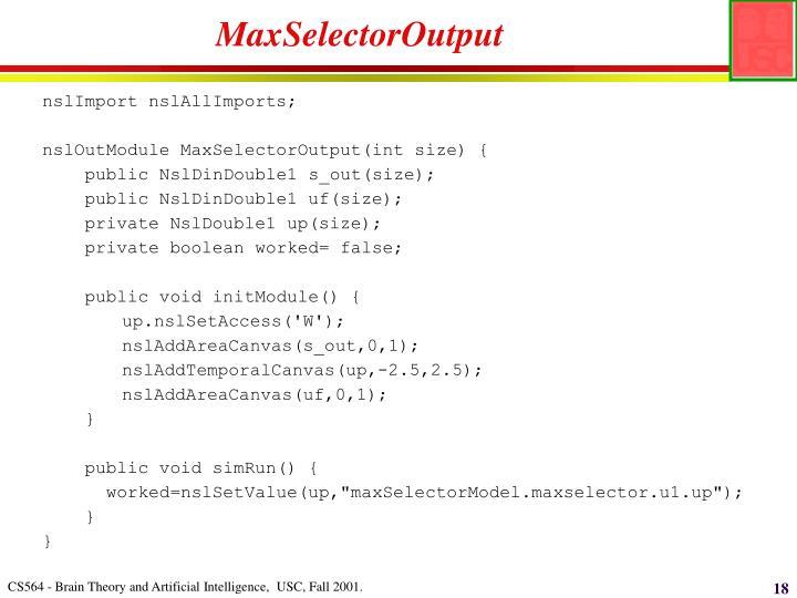MaxSelectorOutput