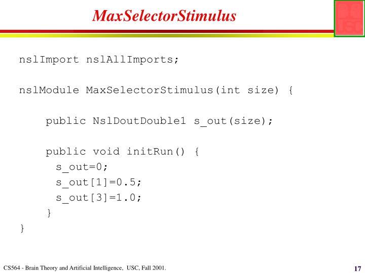 MaxSelectorStimulus