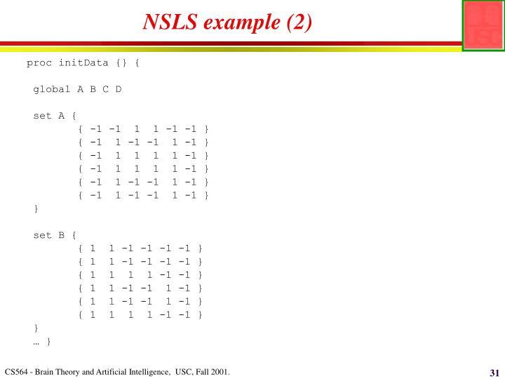 NSLS example (2)