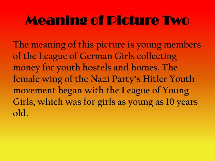 Meaning of Picture Two