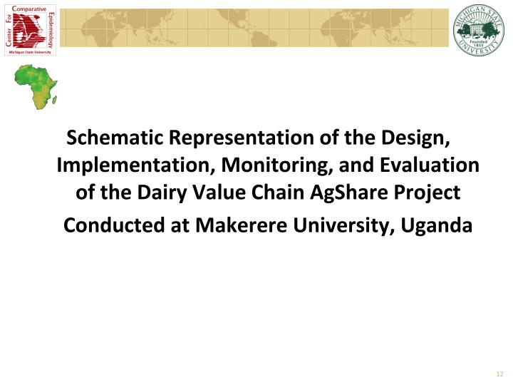 Schematic Representation of the Design, Implementation, Monitoring, and Evaluation of the Dairy Value Chain