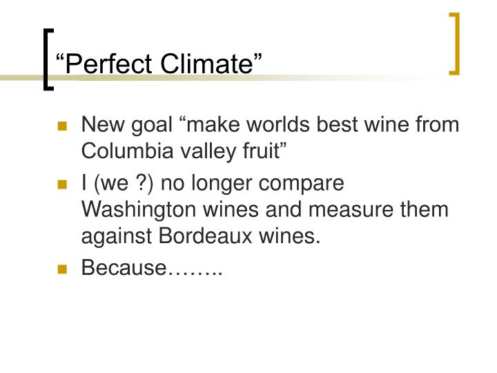 """Perfect Climate"""