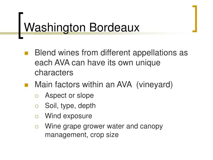 Washington Bordeaux
