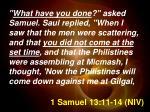 1 samuel 13 11 14 niv