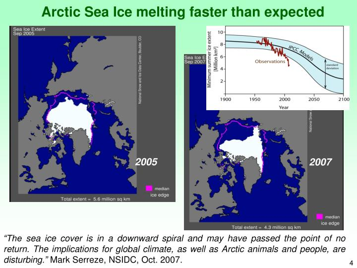 Arctic Sea Ice melting faster than expected