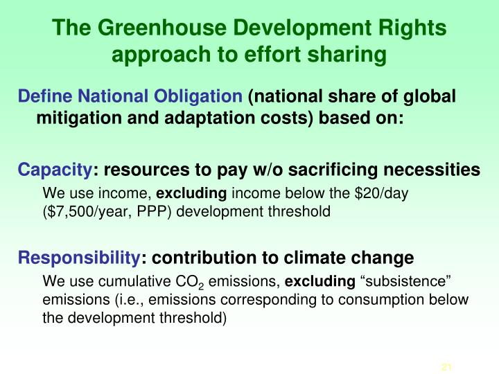 The Greenhouse Development Rights