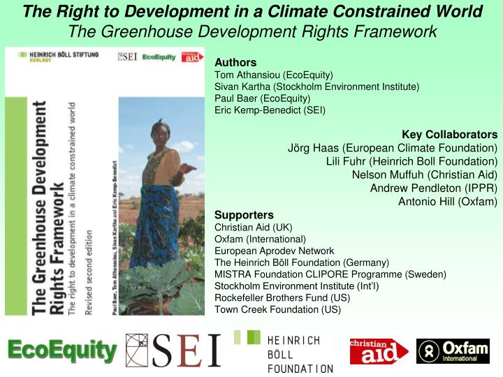 The Right to Development in a Climate Constrained World