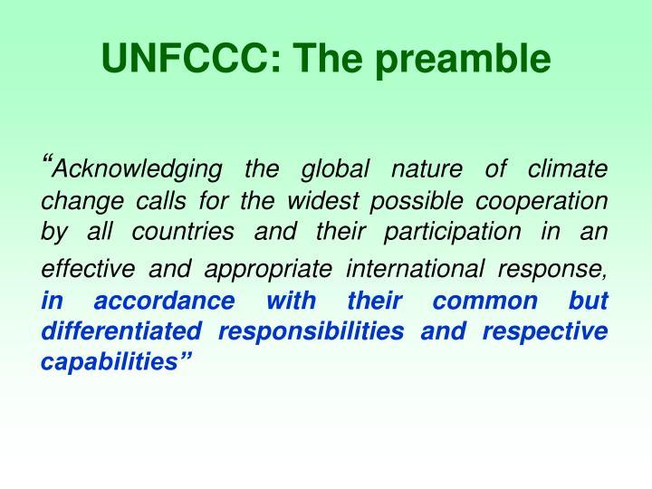 UNFCCC: The preamble