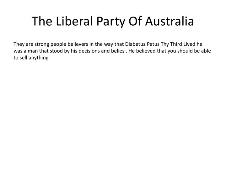 The liberal party of australia