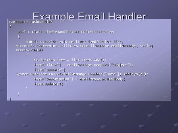 Example Email Handler