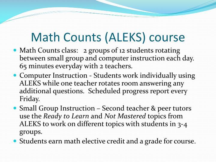 Math Counts (ALEKS) course