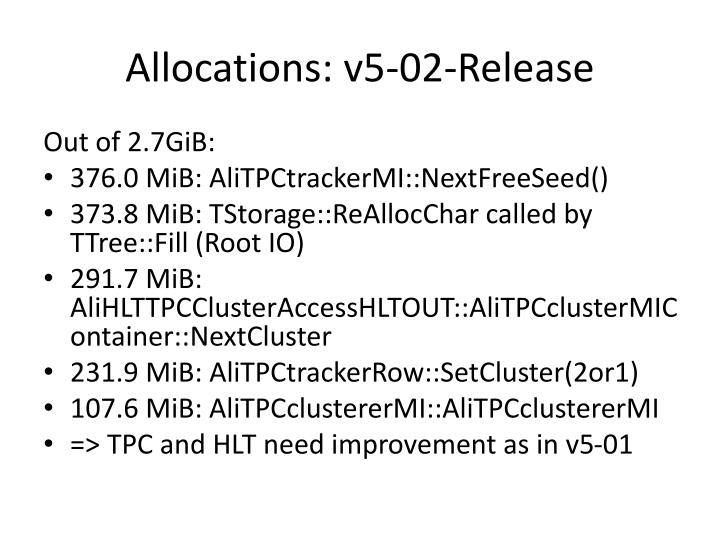 Allocations: v5-02-Release