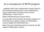 as a consequence of initia program1