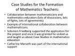 case studies for the formation of mathematics teachers