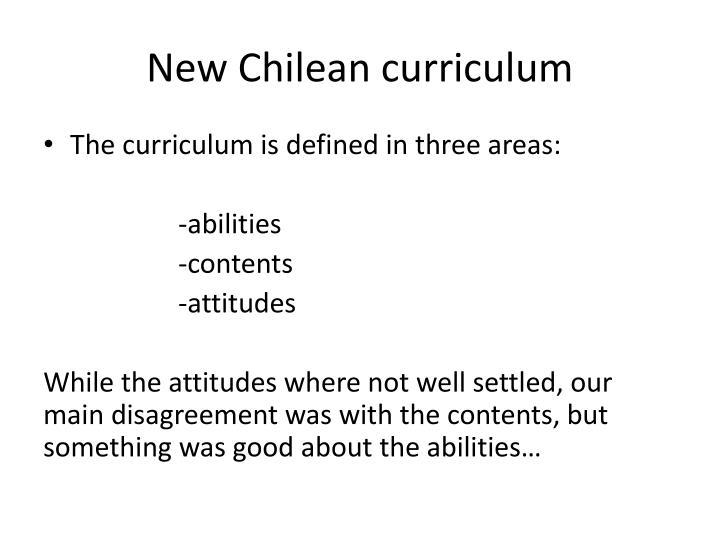 New Chilean curriculum