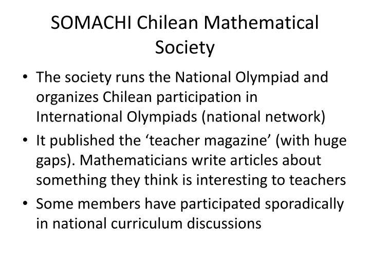 SOMACHI Chilean Mathematical Society
