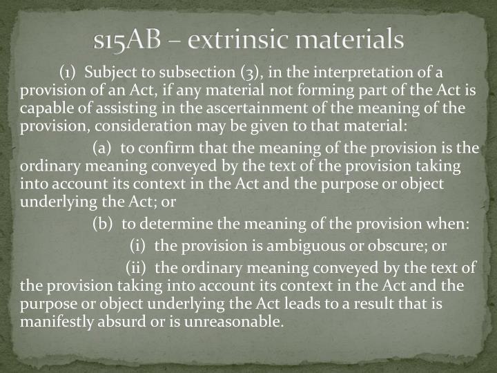 s15AB – extrinsic materials