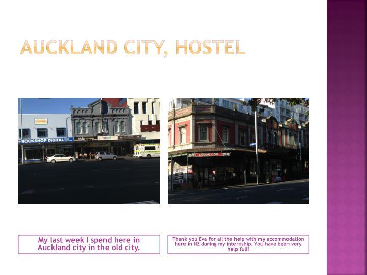 Auckland city, hostel